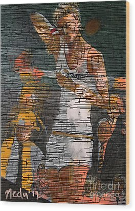 A Tennis Player Wood Print by Nedunseralathan R