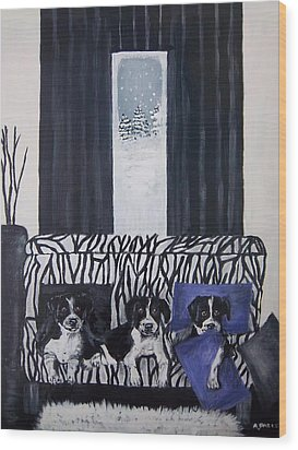 A Touch Of Purple Blue Wood Print by Aleta Parks