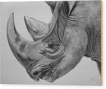 Rhinoceros - A Peaceful Giant Wood Print