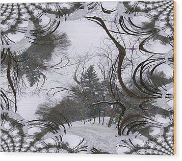 Wood Print featuring the digital art A Tree Fractal by Skyler Tipton