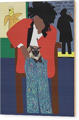 A Tribute To Jean-michel Basquiat Wood Print