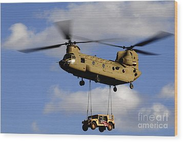 A U.s. Army Ch-47 Chinook Helicopter Wood Print by Stocktrek Images