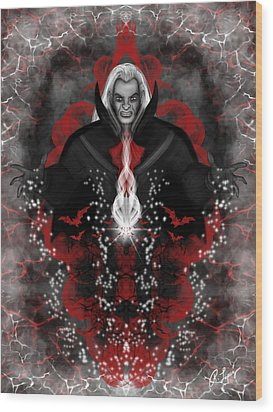 A Vampire Quest Fantasy Art Wood Print