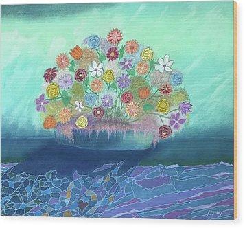 A Vase Of Flowers IIi Wood Print by Harvey Rogosin