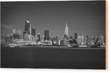 A View From Across The Hudson Wood Print by Eduard Moldoveanu