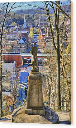 Wood Print featuring the photograph A View From College Hill by DJ Florek