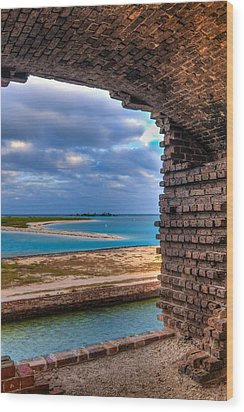 A View From Fort Jefferson - 2 Wood Print