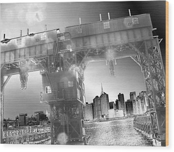 A View From Long Island City II Wood Print by Yelena Tylkina