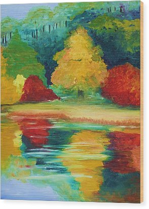 A View I Remember  Wood Print by Julie Lueders
