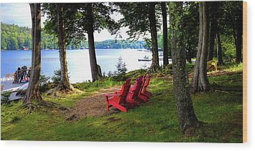 Wood Print featuring the photograph A View Of Big Moose Lake by David Patterson