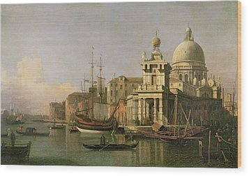 A View Of The Dogana And Santa Maria Della Salute Wood Print by Antonio Canaletto