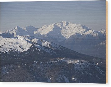A View Of The Mountains Wood Print by Taylor S. Kennedy