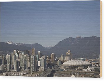 A View Of The Skyline Of Vancouver, Bc Wood Print by Taylor S. Kennedy