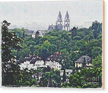 A View Of Wiesbaden Wood Print by Sarah Loft