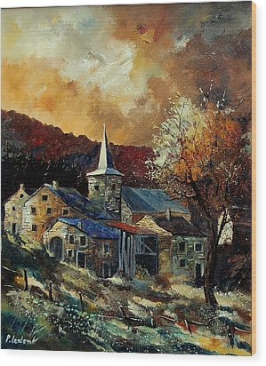A Village In Autumn Wood Print by Pol Ledent
