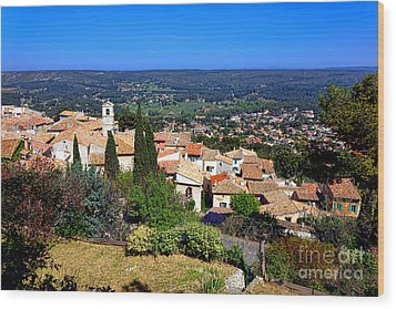 Wood Print featuring the photograph A Village In Provence by Olivier Le Queinec