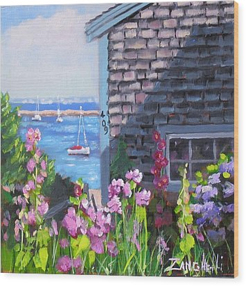A Visit To P Town Jr Wood Print by Laura Lee Zanghetti
