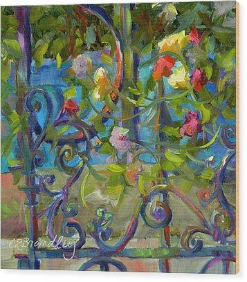 A Walk In The Garden Wood Print by Chris Brandley