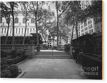 Wood Print featuring the photograph A Walk Through Bryant Park by John Rizzuto