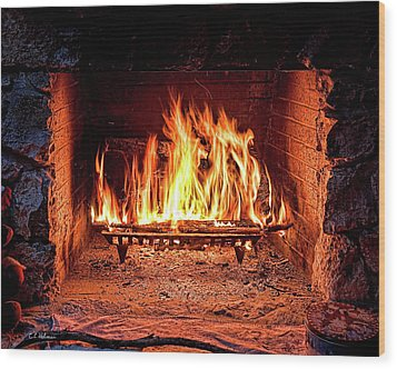 A Warm Hearth Wood Print by Christopher Holmes
