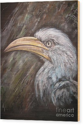 A Watchful Eye Wood Print by Rita Palm