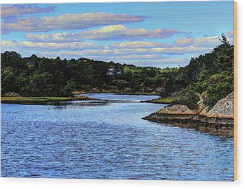 Wood Print featuring the photograph A Water View Newport Ri by Tom Prendergast