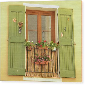 A Window To...provence Wood Print