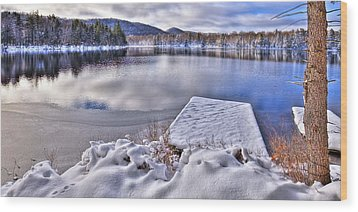 Wood Print featuring the photograph A Winter Day On West Lake by David Patterson