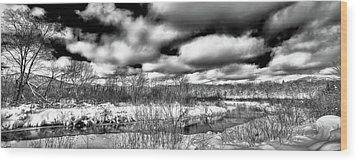 Wood Print featuring the photograph A Winter Panorama by David Patterson