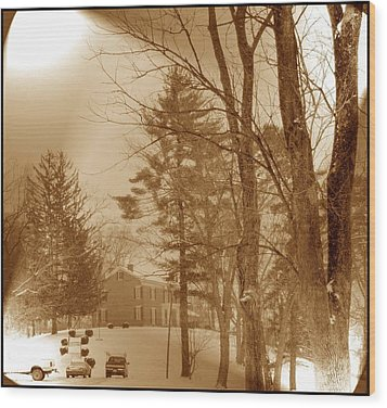 Wood Print featuring the photograph A Winter Scene by Skyler Tipton