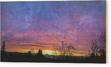 Wood Print featuring the photograph A Winter Sunrise by Angie Vogel