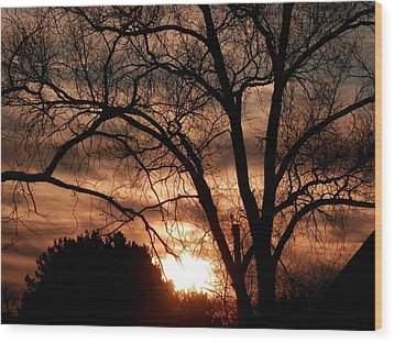 A Wisconsin Sunset Wood Print by William Presley