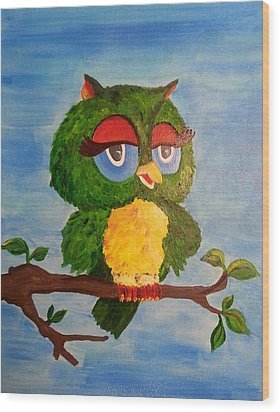 A Wise Bird Wood Print