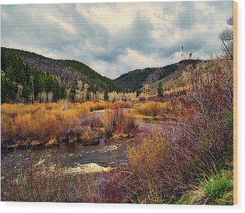 A Wyoming Autumn Day Wood Print by L O C