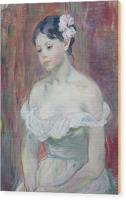A Young Girl Wood Print by Berthe Morisot