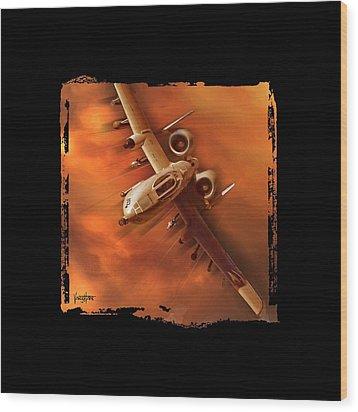 A10 Warthog Wood Print
