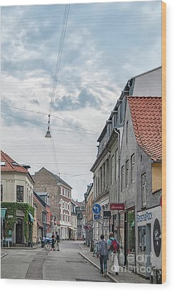 Wood Print featuring the photograph Aarhus Urban Scene by Antony McAulay