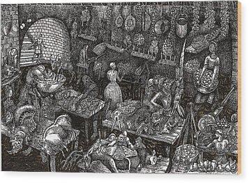 Aaron Finds Duryano Wood Print by Al Goldfarb