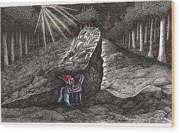Aaron Saddles Asil Wood Print by Al Goldfarb
