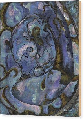 Abalone Wood Print by Lisa Reinhardt