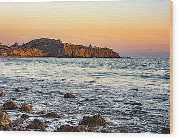Wood Print featuring the photograph Abalone Point Sunset by Anthony Baatz