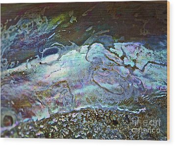 Abalone Stories Wood Print by Gwyn Newcombe