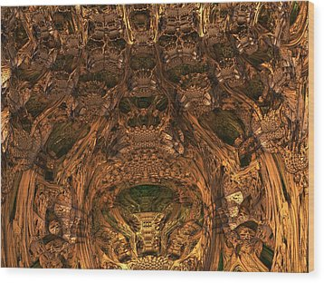 Abandon All Hope Ye Who Enter Here Wood Print by Lyle Hatch