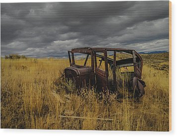 Abandoned Auto Wood Print