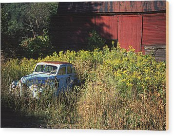 Abandoned Wood Print by Barry Shaffer