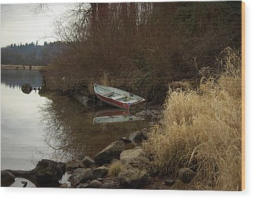 Abandoned Boat II Wood Print