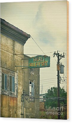 Wood Print featuring the photograph Abandoned Building by Jill Battaglia