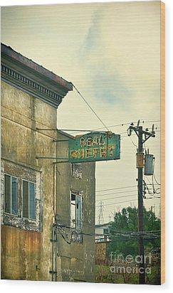 Abandoned Building Wood Print by Jill Battaglia