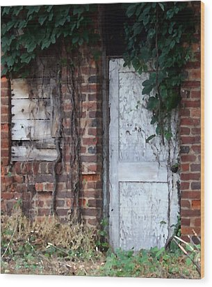 Abandoned Building Wood Print by Karen Harrison