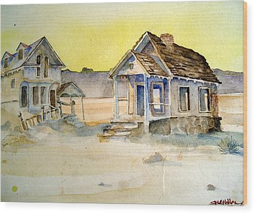 Abandoned Buildings Wood Print by Steven Holder